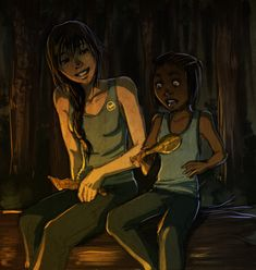 """""""Oh,"""" says Rue with a sigh. """"I've never had a whole leg to myself before."""" """"Take the other,"""" I say. """"Really?"""" """"Take whatever you want!"""""""