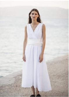 Textured cotton dress with draped bust, waist, cutouts, open back and full skirt, it comes with a detachable draped belt. Suede Leather, Black Suede, White Wings, Ss 2017, Corfu, Cotton Dresses, Greek, White Dress, Things To Come
