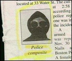 If you recognize him please speak up.  Ahhahahahah True article in the newspaper.  I cant make this stuff up!