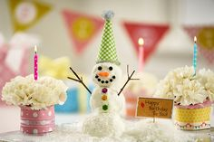 Learn how to make cute snowman crafts that will last all winter long for a super fun birthday idea or just because! Birthday Greetings For Daughter, Mum Birthday Gift, Winter Birthday, Birthday Nails, Birthday Diy, Birthday Wishes, Happy Birthday, Birthday Stuff, Birthday Ideas