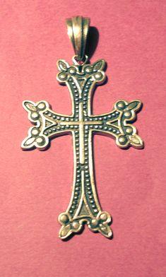 Vintage 925 Sterling Silver Armenian Cross by bkoproff,