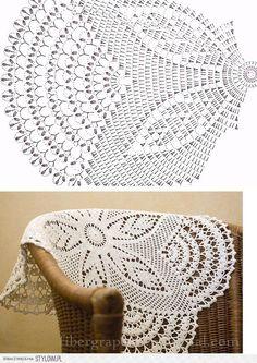 Doily chart: szydełkiem i na drutach na Stylowi. Use t-shirt yarn and make this into a rug Filet Crochet, Crochet Doily Diagram, Crochet Doily Patterns, Crochet Mandala, Crochet Chart, Thread Crochet, Crochet Motif, Crochet Designs, Crochet Flowers