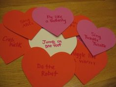 This Musical Hearts Game is a wonderful and fun way to incorporate listening, reading and shapes into a gross motor activity. We played this often last winter and can't wait to include my daughter in on the fun now that she is running and jumping too.