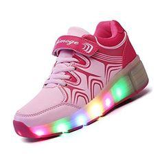 Oferta: 26.77€. Comprar Ofertas de Zapatos de patina con ruedas - Aimoge zapatos con ruedas brillantes para chicos chicas y ninos zapatos de patina con ruedas š barato. ¡Mira las ofertas!
