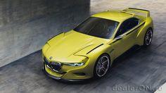 Концепт купе BMW 3.0 CSL Hommage / БМВ 3.0 CSL Хоммейдж – вид спереди сбоку