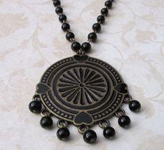 Black Hearts Necklace by TrinketsByM on Etsy, $18.50
