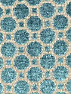 Robert Allen fabric Velvet Geo in Turquoise