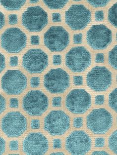 Robert Allen fabric Velvet Geo in Turquoise