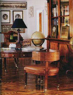 Chessy Raynor designed this room for Bill Blass Home Libraries, British Colonial, Classical Architecture, Design Firms, Decoration, Home Office, Bill Blass, Interior Design, Cool Stuff