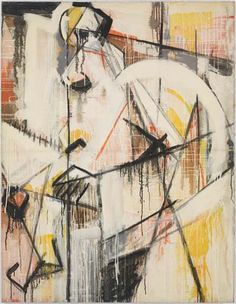 "Judith Godwin, Woman, oil on canvas, 68 x 52"", 1954"