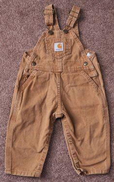 CARHARTT Toddler Boys 18M Adjustable Brown Tan Canvas Overalls Pants Coveralls #Carhartt #Overalls #Everyday