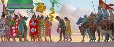 """La Pintura y la Guerra """"Aztec Ruler Moctezuma II"""""""