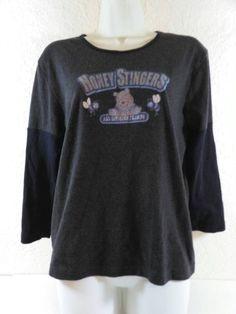 Disney Winnie Pooh Honey Stingers Blouse Jersey Top Size XL  B255 #Disney #jersey #Casual