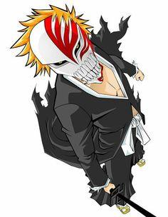 Bleach Manga, Bleach Drawing, Rukia Bleach, Bleach Fanart, Bleach Characters, Anime Characters, Ichigo Hollow Mask, Bleach Pictures, Japanese Anime Series