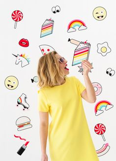 Giant Stickers Photo Booth Backdrop
