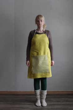 BAMBOO Apron Burned Yellow by LEMPIDESIGN on Etsy, $40.00 Apron, Bamboo, Yellow, Trending Outfits, Handmade Gifts, Unique, Etsy, Clothes, Vintage