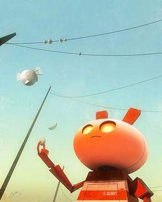 25ca4907c44 Ilustración, personajes y animación de GORO FUJITA Animation Schools, Robot  Cartoon, Visual Development