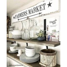 Farmers Market Sign stencil - Rustic Farmhouse stencils for DIY decor Farmhouse Bedroom Decor, Modern Farmhouse Decor, Farmhouse Kitchen Decor, Farmhouse Chic, Coastal Farmhouse, Joanna Gaines, Living Room Small, Living Room Decor, Dining Room