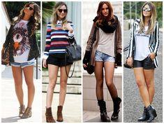 bota cano curto como usar com short - blog sutileza feminina