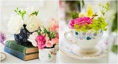 Tazas y flores