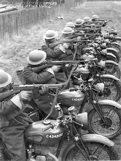 BSA M20 riders were trained in bulk during World War II.