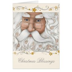 Santa's Angel Beard Christmas Card
