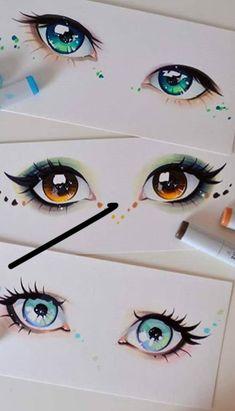 Figure Eyes Manga Eyes Painted Rocks Character Design Art D Art Drawings Sketches, Cute Drawings, Hipster Drawings, Art Illustrations, Eyes Artwork, Manga Eyes, Arte Sketchbook, Marker Art, Anime Sketch