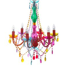 Gypsy Chandelier Ceiling Light - Droplets Multi Coloured Large - Chandeliers & Lighting - Homeware - Hiccup