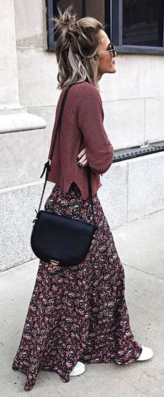 Boho Chic Outfit Ideen - Prom Makeup Looks Winter Fashion Outfits, Modest Fashion, Autumn Fashion, Casual Outfits, Dress Fashion, Fashion Boots, Summer Outfits, Skirt Outfits For Winter, Fashion Clothes
