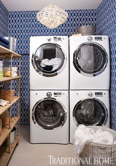 Laundry Room. Double Washer & Dryer.