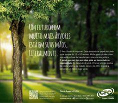 Anúncio de jornal em homenagem ao Dia da Árvore