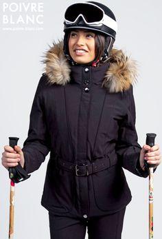 a9cbd9043e Préparez l hiver avec la nouvelle collection Poivre Blanc - Look   11  (Veste ski stretch avec découpes verticales. Pantalon ski stretch.