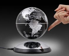 how to make the magic magnetic floating globe float, Funny C Shape Magnetic Levitation Floating Globe World Map with Colored LED Light Floating Globe, Magnetic Levitation, Best Gaming Laptop, Levitation Photography, Deco, Snow Globes, It Works, Room Ideas, Toys