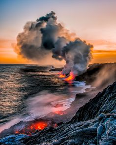 Molten lava flows into the ocean in Big Island, Hawaii. Sigmà Sreedharan, Your Take