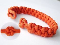 """How to Make a """"True Lovers Knot"""" Paracord Bracelet/Knot and Loop Closure - YouTube"""