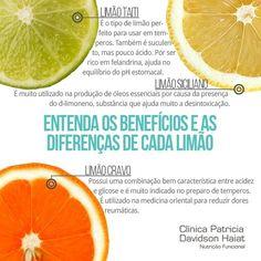 Conheça os benefícios de cada tipo de limão para a sua saúde!  Fique por dentro de mais dicas de saúde e alimentação saudável no nosso Instagram.   Acesse: https://www.instagram.com/emporioecco/