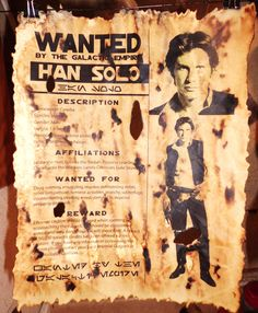 Star Wars Wanted Posters.