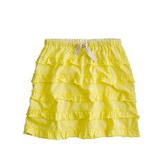 Girls' drawstring cupcake skirt