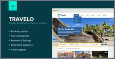 Buy Travelo - Responsive Booking Wordpress Theme by UmbrellaStudios on ThemeForest. Travelo is a Responsive wordpress theme made for tourism purposes. Build on a clean design, and in a good thought fu. Perth, Email Form, Travel Companies, Premium Wordpress Themes, Good Thoughts, Website Template, Tourism, Writing, Turismo