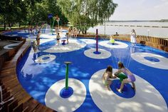 More from #Splashpad in Tychy Poland. #waterparks