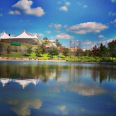 Cynthia Mitchell Woods Pavilion in The Woodlands TX. Voted 1 of the top 5 places in the country for outdoor concerts!