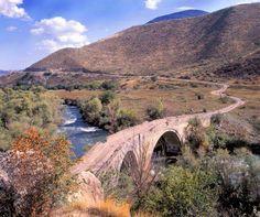 Armenian bridge of Lalazar. Kashatagh District, Rp. of Artsakh.