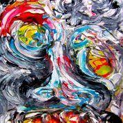 Pintura del artista Fredy Holzer llamada Retrato