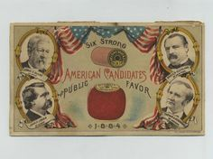 Rare-1884-US-President-Election-Political-Advertising-Trade-Card-Sewing-zs9874