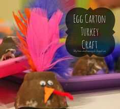 I love recycled crafts for kids! This Upcycled Egg Carton Turkey is such a quick Thanksgiving craft, and it costs practically nothing!