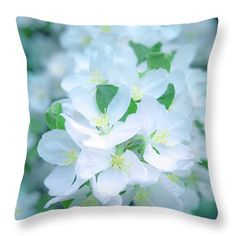 Blossom Throw Pillow featuring the photograph Encyclopedia Of Spring Apple Blossoms by Irina Effa