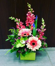 Bright beauties from our Southgate Mall store! #beautiful #spring #gerberas #snapdragons #orchid