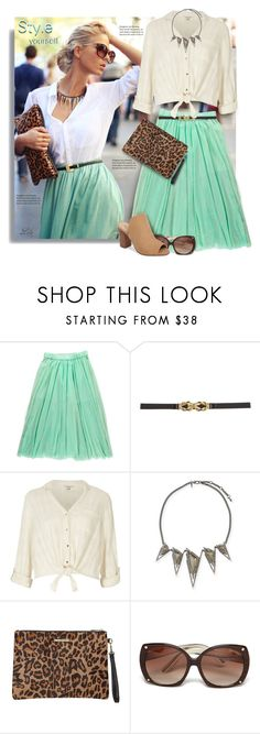 """*Slip 'Em On: Mules"" by breathing-style ❤ liked on Polyvore featuring BCBGMAXAZRIA, River Island, Alexis Bittar, Dorothy Perkins, Tom Ford and Sbicca"
