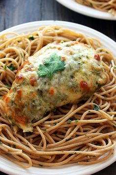 Baked Chicken Pesto Parmesan from handletheheat.com