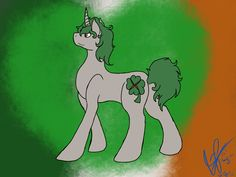 @tbmisfit I pictured her as a rather short and chubby Irish mare. With a very curly mane and tail (since Irish people tend to have curly hair, or that's what Google tells me) (her eyes are orange, if you can't tell)